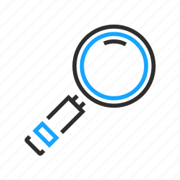 business, glass, magnifying, office, search icon