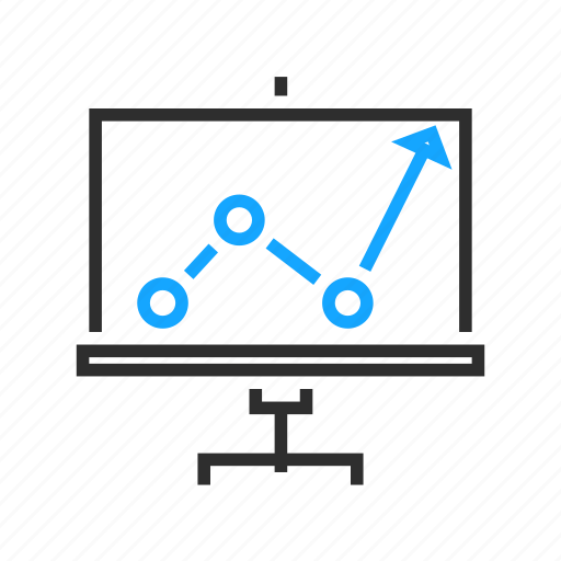 analytics, business, office, presentation, sales icon