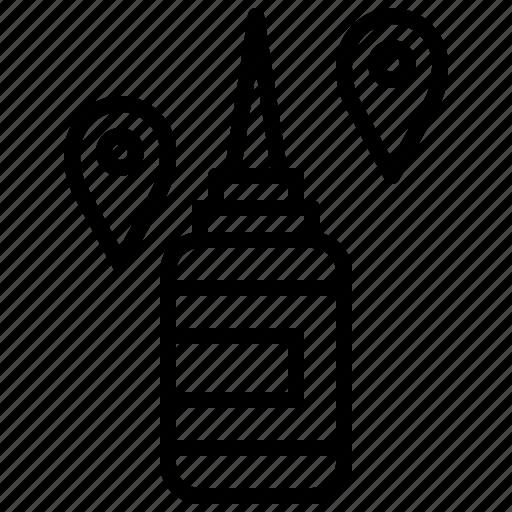 bottle, glue, liquid, miscellaneous, tools, utensils icon