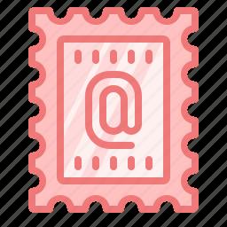 address, mail, message, postmark, stamp icon