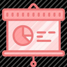 chart, diagram, graph, keynote, presentation, screen, whiteboard icon