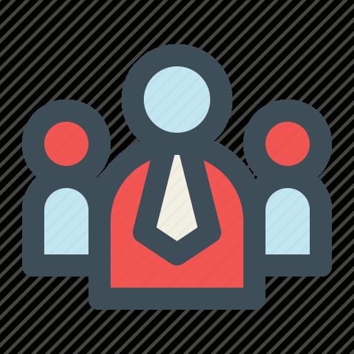 group, leader, leadership, team, team work icon