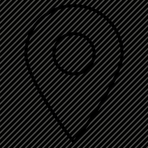 gps, locate, location, pin icon