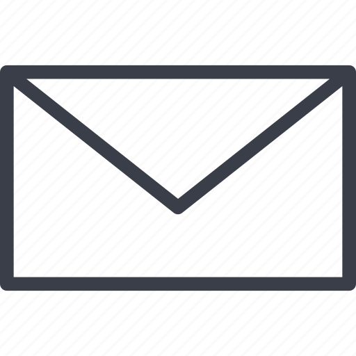 correspondence, file, mail, office, the envelope icon