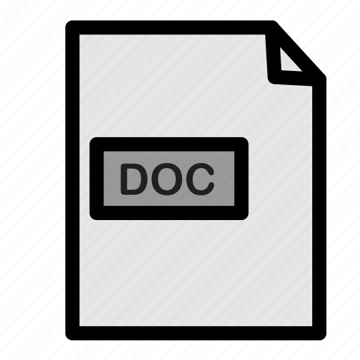 doc, document, extension, file, format, paper icon