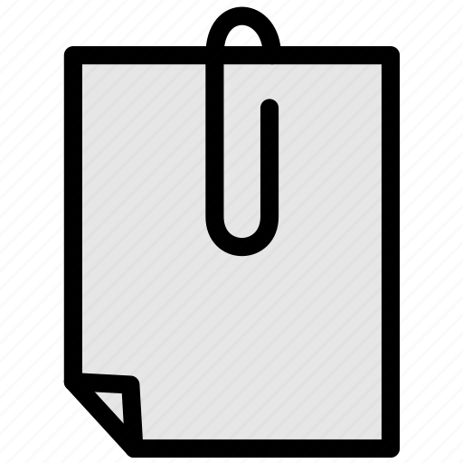 clip, document, file, page, paper, sheet icon