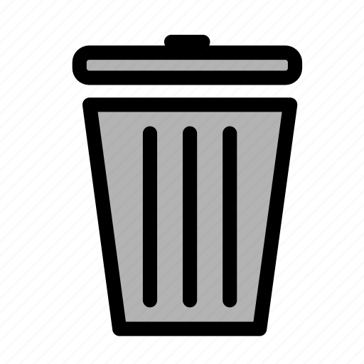 bin, can, delete, garbage, recycle, trash icon