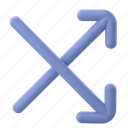 media, navigation, cross, arrows, pointer, direction, move, shuffle