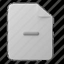 office, files, and, folders, delete, minus, remove, decrease, document, file
