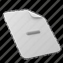 office, files, and, folders, minus, delete, remove, decrease, document, file