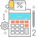 calculate, calculator, digital, math, stationary, tool icon