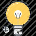 bulb, creativity, idea, lamp, light, office, stationary icon