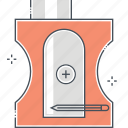 pencil, pen, sharp, sharpener icon