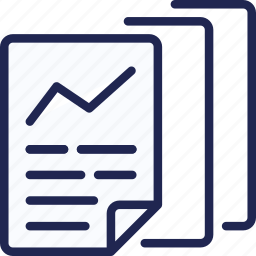 chart, document, graph, page, paper, sheet, statistics icon