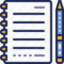 document, page, paper, pen, sheet, stationery icon