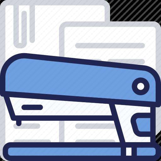 desk, metal, office, paper, stapler, work icon