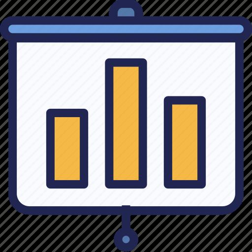 board, business, chart, graph, presentation, report, screen icon