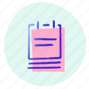 memo, note, notepad, office, paper, tool, writing icon