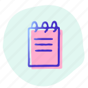 note, notes, office, paper, tool, write icon