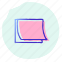 it, note, office, post, post it, sticky, tool icon