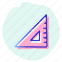 drawing, office, ruler, rulers, tool, triangle icon