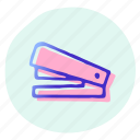 office, staple, stapler, stapling, stationery, tool icon
