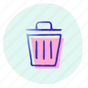 bin, can, delete, recycle, trash, trashcan, remove