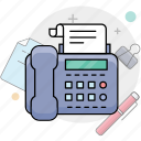 fax, phone, telephone