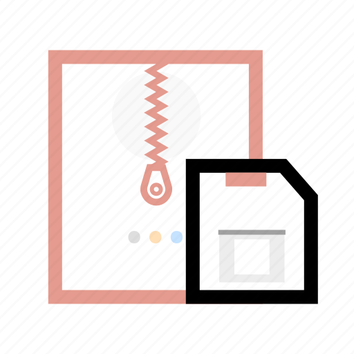 document, file, save, zip icon