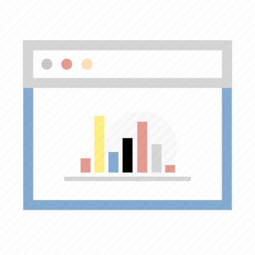 browser, chart, diagram, graph, internet icon