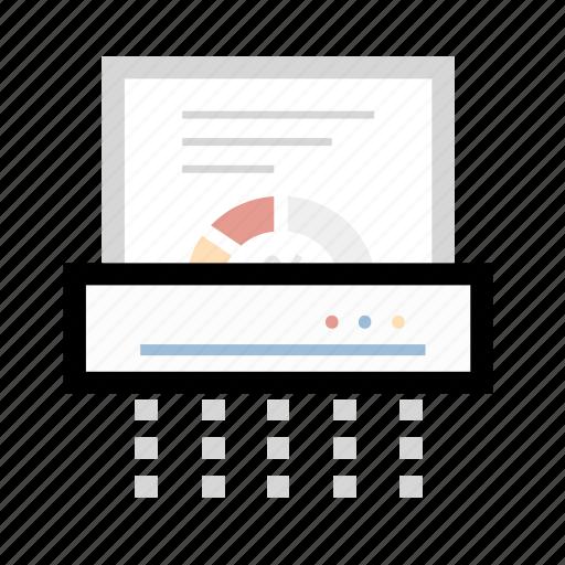 device, document, paper, shredder icon