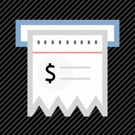 bank check, bill, check, receipt icon