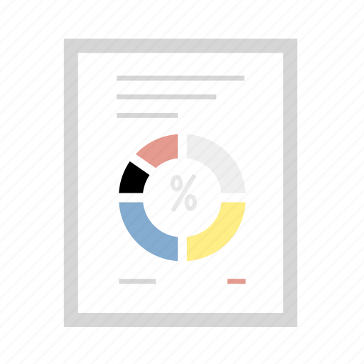 chart, document, file, graph, paper icon