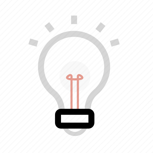idea, lamp, light, office icon
