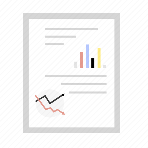 chart, diagramm, document, graph, office icon