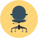 adjustable chair, chair, desk chair, office chair icon