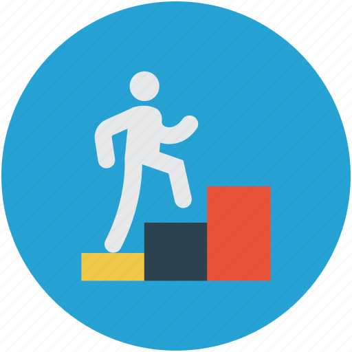Bar graph, climbing charts, graph, leader board icon - Download on Iconfinder