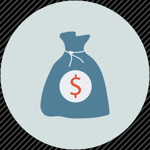 bank bag, cash bag, money bag, savings icon