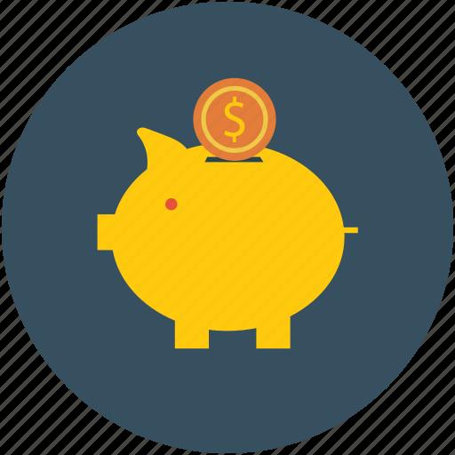Coin bank, deposit, piggy bank, savings icon - Download on Iconfinder