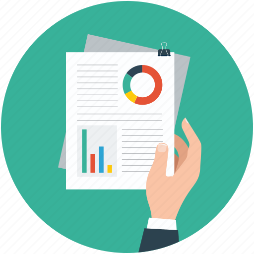 analysis, data, documents, reports icon