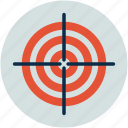 bulls eye, cross hair, goal, marksmanship, target icon
