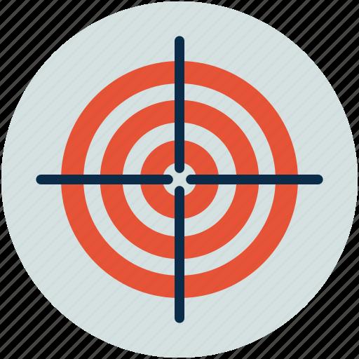 bulls eye, cross hair, goal, marksmanship, target icon