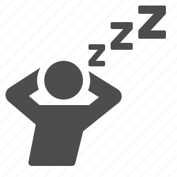 man, relaxing, sleep, sleeping, user icon