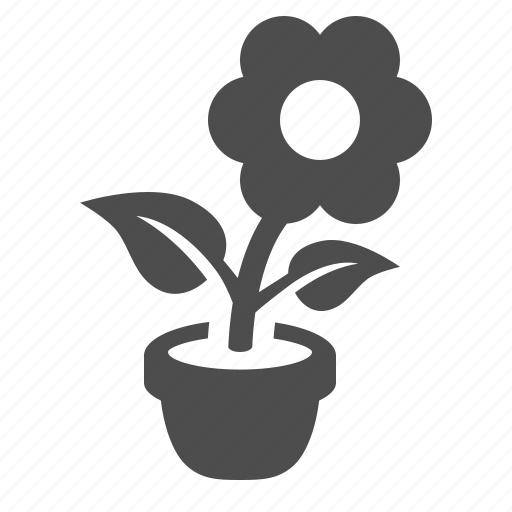 ecology, flower, plant, pot, potted icon