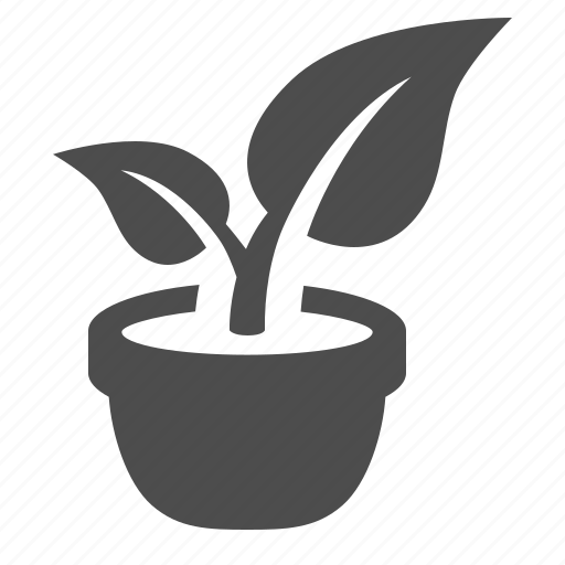 flower, leaf, office, plant, pot, potted icon
