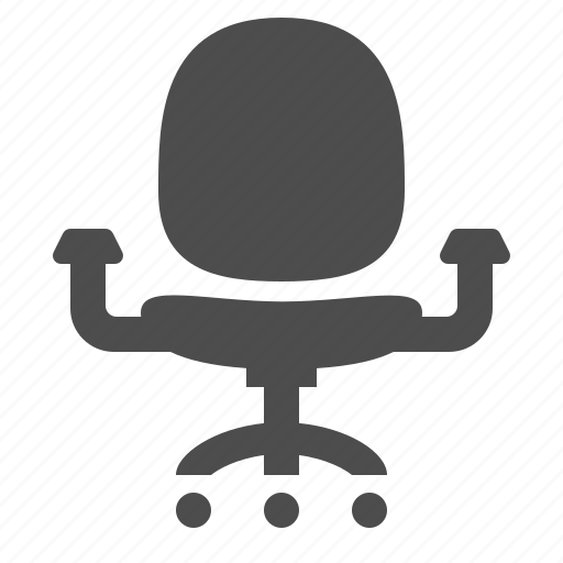 chair, office, office chair, wheel icon
