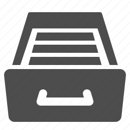 archive, business, cabinet, drawer, files, office icon