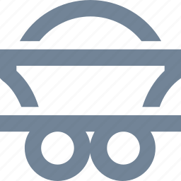 cart, coal, energy, industrial, industry, mine, power generation, rock icon