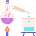 chemical, distillation, laboratory, science icon