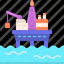 ocean, offshore, platform, sea icon